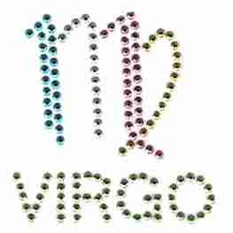Virgo Sign Iron on Hotfix Applique