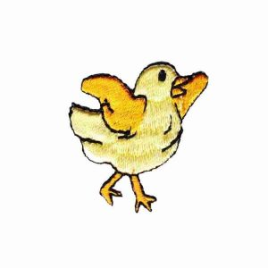 Chicks - Small Baby Chick Flapping Wings Iron On Farm Animal Pat