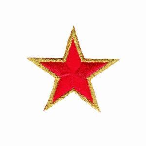 Gold-Trimmed-Star-Patches-1.5-inch-red-stars