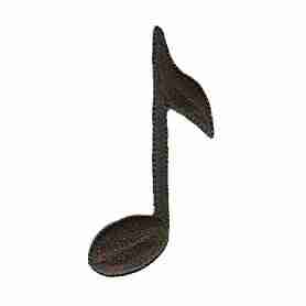 Large Musical Eighth Note Iron On Patch Applique
