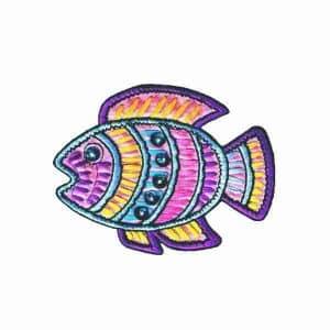 Pastel Jeweled Fish Applique 526 600