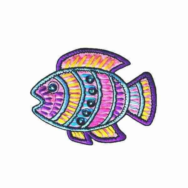 Pastel Sequined Fish Applique Iron on