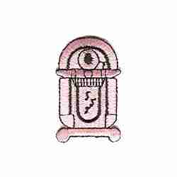 Pink Jukebox Iron on Patch Applique