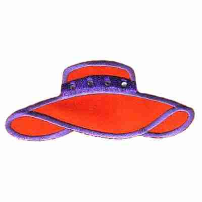Satin Red Hat Iron On Applique