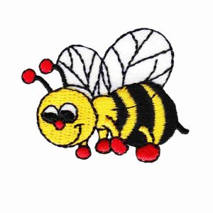 Bee - Smiling Bumblebee Iron On Insect Patch Applique