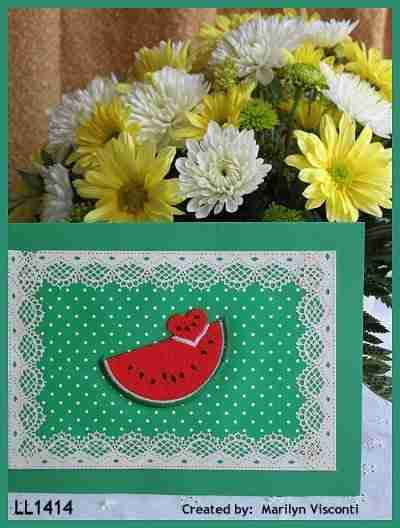 Ideas for watermelon patches - Small Watermelon w/Heart Shaped Slice