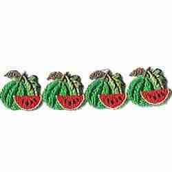 "Fruit - Watermelons - 36"" of Watermelons Iron On Fruit Patch App"