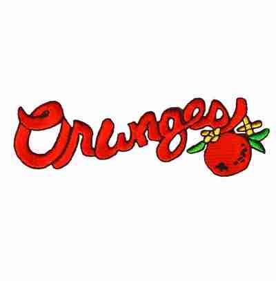 Fruit - Oranges Script Iron On Fruit Patch Applique