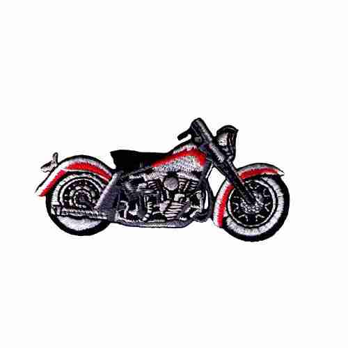 Red and Grey Harley Biker's Patch Applique