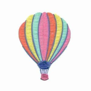 Large Hot Air Balloon in PASTEL colors Iron On Applique