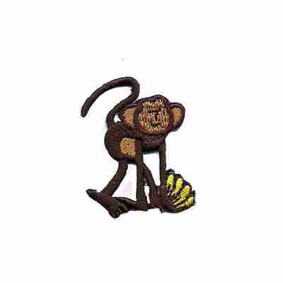"/""Hang In There/"" Monkey Design// Iron On Embroidered Applique//Animals Words"