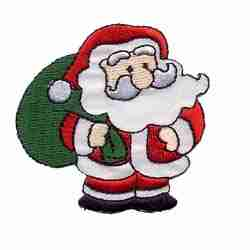 Christmas Santa with Bag Iron On Christmas Applique