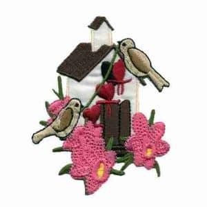 product 1 8 1890 birdhouse applique pink flowers