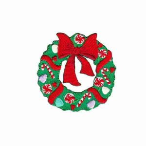 Christmas Wreath Iron on Patch