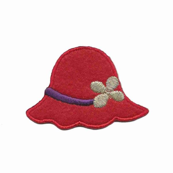 Red Hat Iron On Applique