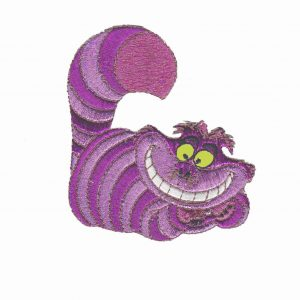 Alice In Wonderland Cheshire Cat Lounging Iron On Patch