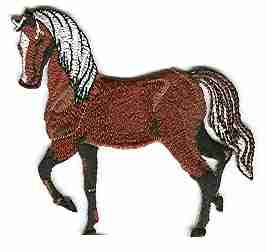 Horses - Horse Prancing Iron On Equestrian Patch Applique