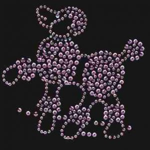 product 6 1 6185 pink rhinestone poodle appliques