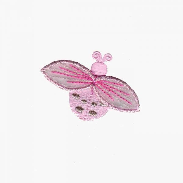 Ladybugs - Small Ladybug in PINK Iron On Appliques