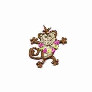 Monkey - Dancing Iron On Animal Patch Applique