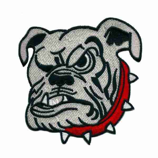 """Dogs - English Bulldog Face Large 4-1/2"""" Iron on Patch Applique"""
