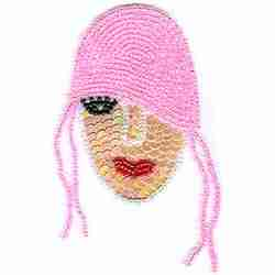 Flapper Girl (Large) Beaded Iron on Patch Applique