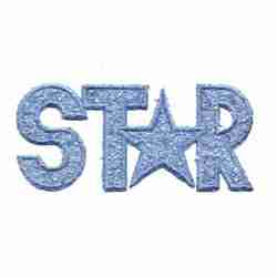 "Sparkle ""Star"" Applique in Blue"