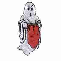 Halloween - Trick or Treat Ghost Iron On Patch Applique