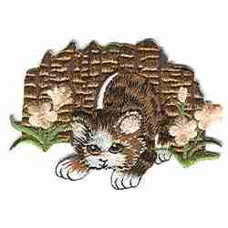 Cats - Cat Playing in Grass Iron On Patch Applique