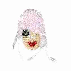 Flapper Girl Beaded Iron on Patch Applique