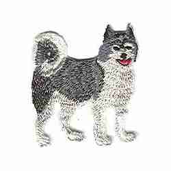 Dogs - Husky Iron On Dog Patch Applique