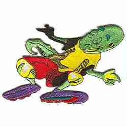 Large ROLLERBLADING Patch Bald Lizard Applique