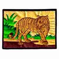 Tiger in jungle scene Iron On Patch Applique