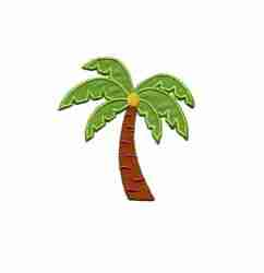 Med. Palm Tree with Coconut iron on applique