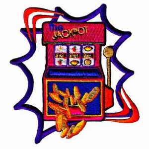 Jackpot Slot Machine Iron On Gambling Patch