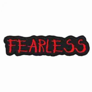 """FEARLESS"" Iron On Namedrop Patch Applique"
