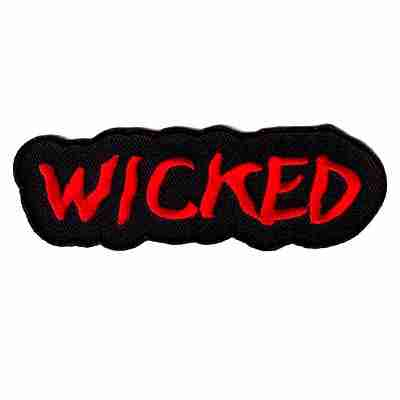 """""""WICKED"""" Iron On Namedrop Patch Applique"""