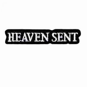 "Small ""HEAVEN SENT"" Iron On Namedrop Patch Applique"