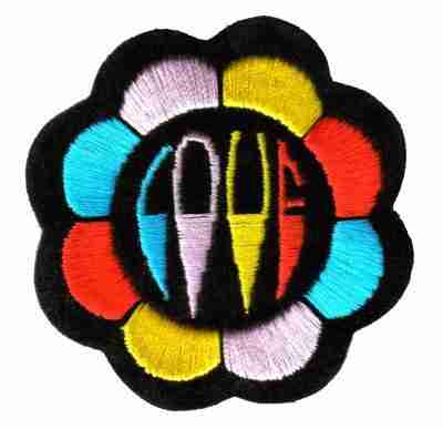 Hippie Love Flower Iron On Applique Patch - 1 left!