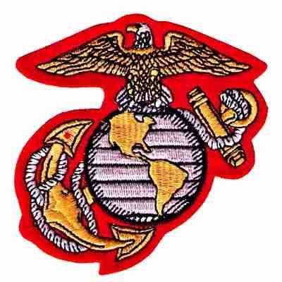 U.S. Marine Corps Insignia Iron On Military Patch