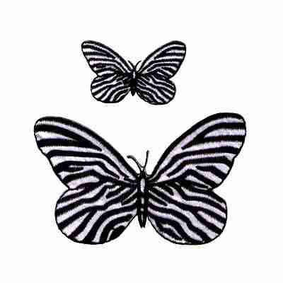 Sold Separately Zebra Butterfly also available in Small Iron On Insect Patch Appli