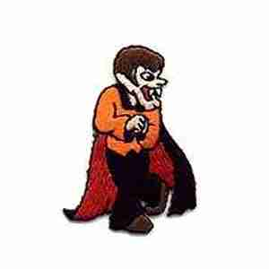 Halloween - Count Dracula Iron On Halloween Patch Applique