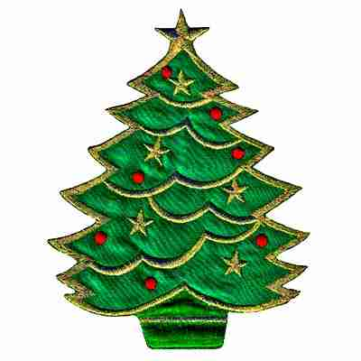 Christmas Tree -LARGE- Iron On Holiday Patch Applique