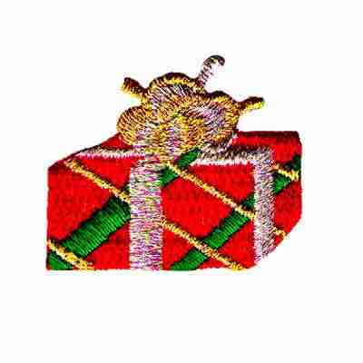 Christmas Present Iron On Holiday Applique