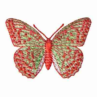 Butterflies - Green and Orange Iron On Butterfly Applique