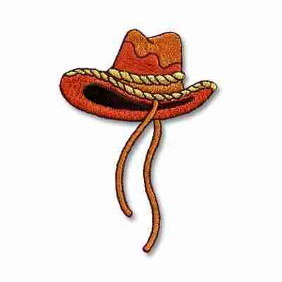 Western Embroidered Cowboy Hat Iron On Applique