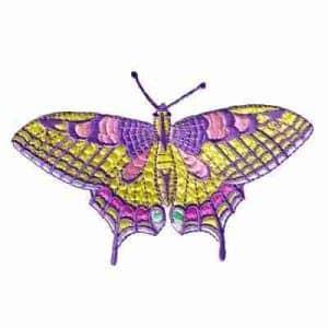 Butterflies - Large Pastel Swallowtail Iron On Butterfly Appliqu