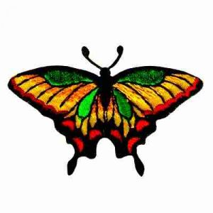 Butterflies - Brightly Colored Swallowtail Butterfly Patch Appli