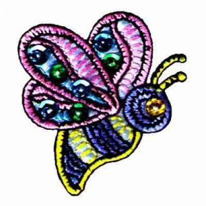 Bee- Pastel Jeweled Iron On Bumble Bee Applique