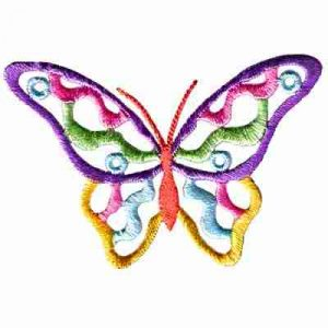 Butterflies - Cutout Pastel Butterfly Iron On Insect Patch Appli